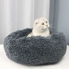 Dog Pet Cat Plush Calming Bed Mat Comfy Puppy Washable Fluffy Cushion gray 40cm
