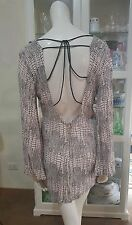NWOTS Style Stalker dress.Sz10.Textured crepe rayon.Bell sleeves