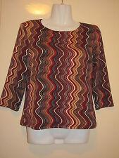 Damen- Shirt  Größe 38,rot-schwarz-beige