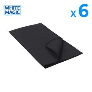 6X White Magic Eco Cloth Microfibre Kitchen Tea Towel Glass Dish Cloths 60x40cm