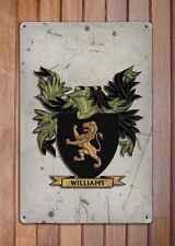 White Coat of Arms A4 Aged Retro 10x8 Metal Sign Aluminium Heraldry