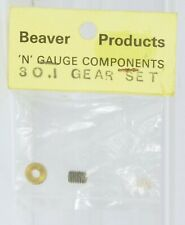 BEAVER PRODUCTS N GAUGE 30 : 1 GEAR SET IN FACTORY SEALED PACK