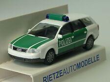 Rietze Audi A6 Avant POLIZEI, grün/ weiss - 50949 - 1/87