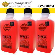 3x500ml FX-600 DIESEL BLOCK TEST FLUID - BLOWN HEAD GASKET - COMBUSTION LEAK 10e
