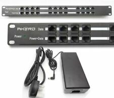AKORD 12 Port Passive Poe Power Injector for WiFi Ap's IP Cameras VoIP 48v