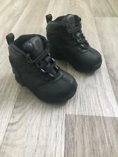 Kids Baby Timberland Toddler Infants Leather Shoes Lace Boots Black Size UK 5