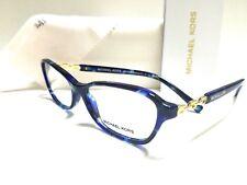 Authentic Michael Kors MK8019 3109 Sabina V Blue Tortoise/Gold 53mm Eyeglasses