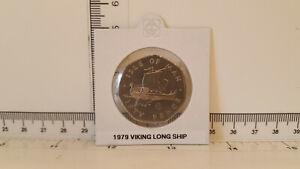 50p Isle of Man 50 pence coin ~ 1979  Viking Ship