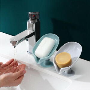Leaf Shape Soap Box Bathroom soap holder Dish Storage Plate Tray Bathroom Soap