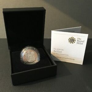 2010 UK Belfast one pound /£1 silver proof coin