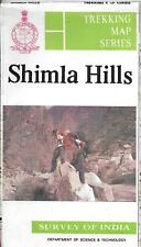 Trekking Map of Shimla Hills, India, by Survey of India Trekking Map Series