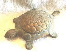 Vintage Metalware Brass Incense Burners Turtles Primitives Folk Art (1)