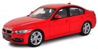 BMW 335i 1:24 Scale Metal Diecast Car Model Die Cast Models Cars 3 Series Red