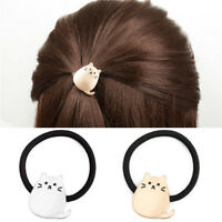 Women  Metal Cat Hair Band Hair Rope Elastic Tie Ponytail Holder Sexy Gold FT
