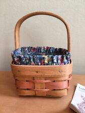 Longaberger 1991 Mother's Day Potpourri Basket with Liner & Protector