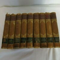 Sir Walter Scott,Bart. Waverly Novels Set of 9 Leather Marbled George Routledge