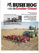 Original OEM OE Bush Hog Model 1560 Soil Hog Coulter Chisel Sales Brochure BH 2