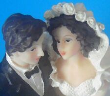 LOVING EYES WEDDING TOPPER FIGURINE TRADITIONAL BRIDAL COUPLE 13cm HIGH*