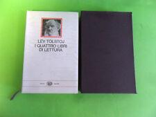 TOLSTOJ. I QUATTRO LIBRI DI LETTURA. EINAUDI 1970. CON COFANETTO