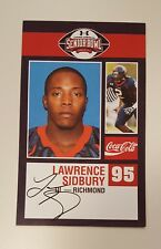 2009 Signed Auto Lawrence Sidbury Senior Sr Bowl Rookie Rc Card - Richmond