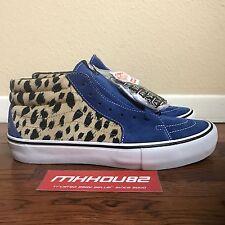 92d78643cb Supreme VANS Sk8-mid Pro Velvet Cheetah Leopard Skateboard Shoes Size 10.5