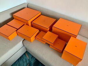 Boite carton Hermès vide Originale Décoration collection
