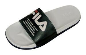 Fila Drifter Lux Women's Sz 8 M Clear Plastic Blue Slide Sandals 729509