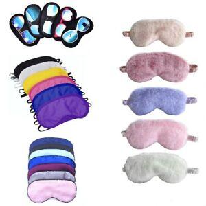 Eye Mask Sleep Travel Masks Sleeping Blindfold aid Basic Polyester Silk Padded