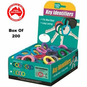 Lucky Line Key Identifiers Box of 200 Mixed 16700 -FREE POST