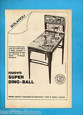 ALTOP970-PUBBLICITA'/ADVERTISING-1970- SOLAROLI - SUPER DING BALL FLIPPER