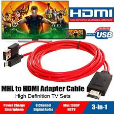 MHL Micro USB to HDMI Cable TV Out Lead 1080p for Samsung Galaxy S5 S4 S3