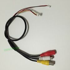 2Pcs Analog CCTV Camera Video Audio Cable DC RCA BNC Connector Pigtail Cord 6Pin
