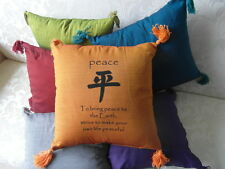 Inspirational Balinese affirmation cushion cover - Peace - 6 colours