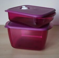 TUPPERWARE 2  Vent N Serve Microwave Container 2,6 Cup  New