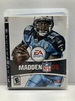 Madden NFL 08 Football - Sony PlayStation 3 PS3 - Complete w/ Manual Tested