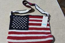 SAK Liberty Crochet Bag NWT Red White Blue