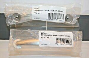 2x Cupboard/Draw  Bow Handle 128mm CC Matt Nickel part no 237805