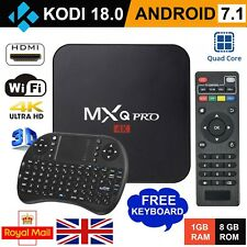 2018✔ MXQ PRO 4K TV BOX Android 7.1 Quad Core KODI 18 Smart Media Player 1GB+8GB