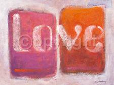 K. kostolny: Love Imagen TERMINADA 60x80 Mural Abstracto Moderno