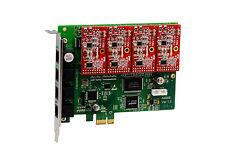 OpenVox A400E04 A400E 4 Port Analog PCI-E card + 0 FXS + 4 FXO, Ethernet (RJ45)
