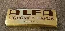 Vintage 1960s ALFA Liquorice Cigarette Rolling Paper RARE!