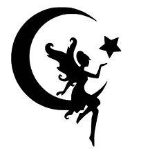 Fairy Moon vinyl car Decal / Sticker