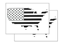 """2 PACK Spray Airbrush Painting Stencils American MAP US Flag LARGE 10x14"""""""