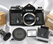 @Clean@ Nikon New F Black w/ Accesories Set from JAPAN #013165