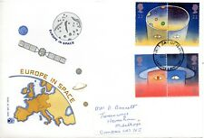 1991 Sg 1560/3 Europe in Space Stuart First Day Cover Lancaster Cancel