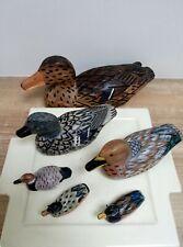 6 canards en résine