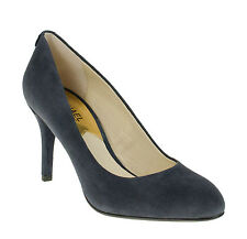 Michael Kors Flex Navy Suede Round Toe Pump Women Size 6 M