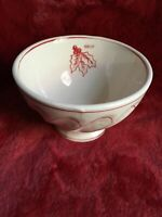 Anthropologie Molly Hatch CHRISTMAS HOLLY Soup Bowls Deep Kitchen Decor New
