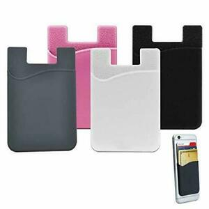 3x Credit Card Holder Oyster Pouch Pocket Stick On Wallet For Any Phone MAK UK