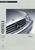 Mercedes CLK Design Vorteile 2002 2/02 Produktinformation Prospekt brochure Auto